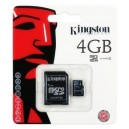 Micro SD 4GB Kingston com adaptador original pronta entrega