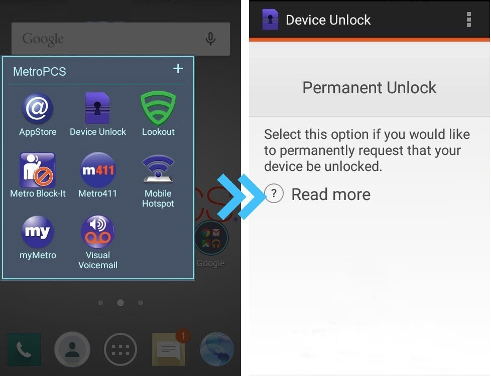 Device unlock app Samsung MetroPCS
